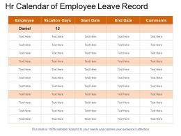 Hr Calendar Of Employee Leave Record