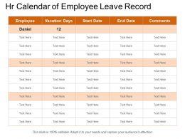 Hr Calendar Of Employee Leave Record