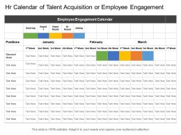 Hr Calendar Of Talent Acquisition Or Employee Engagement
