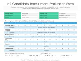 HR Candidate Recruitment Evaluation Form