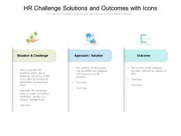 HR Challenge Solutions And Outcomes With Icons