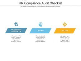 HR Compliance Audit Checklist Ppt Powerpoint Presentation Slides Demonstration Cpb