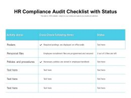HR Compliance Audit Checklist With Status