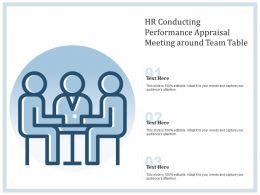 HR Conducting Performance Appraisal Meeting Around Team Table