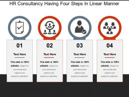 Hr Consultancy Having Four Steps In Linear Manner