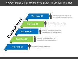 Hr Consultancy Showing Five Steps In Vertical Manner