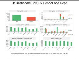 Hr Dashboard Split By Gender And Deptt