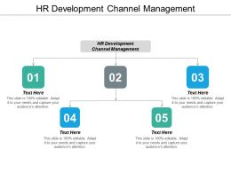 HR Development Channel Management Ppt Powerpoint Presentation Portfolio Icon Cpb