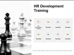 HR Development Training Ppt Powerpoint Presentation Ideas Visual Aids Cpb
