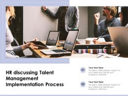 HR Discussing Talent Management Implementation Process