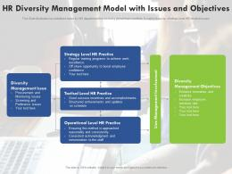 HR Diversity Management Model With Issues And Objectives