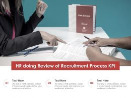 HR Doing Review Of Recruitment Process KPI