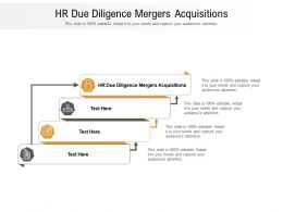 HR Due Diligence Mergers Acquisitions Ppt Powerpoint Presentation Inspiration Cpb