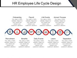 Hr Employee Life Cycle Design Powerpoint Graphics