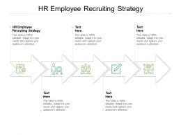 HR Employee Recruiting Strategy Ppt Powerpoint Presentation Summary Tips Cpb