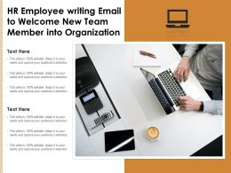 HR Employee Writing Email To Welcome New Team Member Into Organization