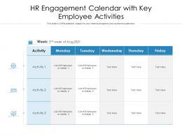 HR Engagement Calendar With Key Employee Activities