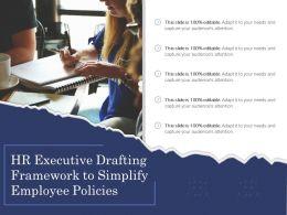 HR Executive Drafting Framework To Simplify Employee Policies