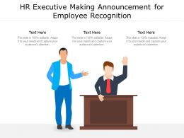 HR Executive Making Announcement For Employee Recognition