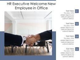 HR Executive Welcome New Employee In Office