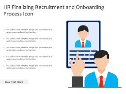 HR Finalizing Recruitment And Onboarding Process Icon
