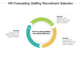 HR Forecasting Staffing Recruitment Selection Ppt Powerpoint Presentation File Graphics Tutorials Cpb