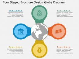 hr Four Staged Brochure Design Globe Diagram Flat Powerpoint Design