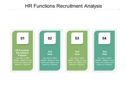 HR Functions Recruitment Analysis Ppt Powerpoint Presentation Ideas Template Cpb