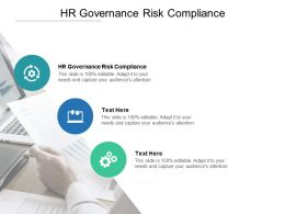 HR Governance Risk Compliance Ppt Powerpoint Presentation Background Images Cpb