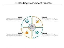 HR Handling Recruitment Process Ppt Powerpoint Presentation Layouts Cpb