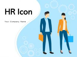 HR Icon Management Assessment Magnifying Glass Performance Analysis