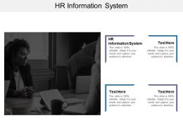HR Information System Ppt Powerpoint Presentation Show Brochure Cpb