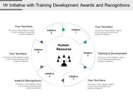 Hr Initiative With Training Development Awards And Recognitions