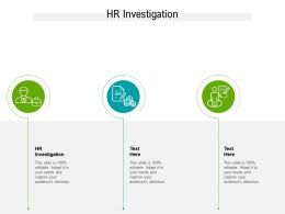 HR Investigation Ppt Powerpoint Presentation Ideas Portfolio Cpb