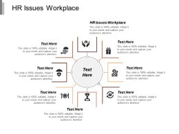 Hr Issues Workplace Ppt Powerpoint Presentation Model Rules Cpb