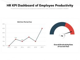 HR KPI Dashboard Of Employee Productivity