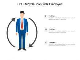 HR Lifecycle Icon With Employee