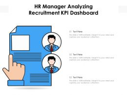 HR Manager Analyzing Recruitment KPI Dashboard