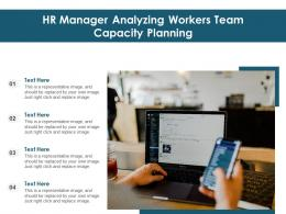 HR Manager Analyzing Workers Team Capacity Planning