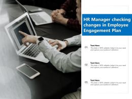 HR Manager Checking Changes In Employee Engagement Plan