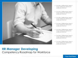 HR Manager Developing Competency Roadmap For Workforce