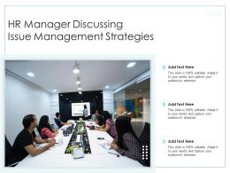 HR Manager Discussing Issue Management Strategies