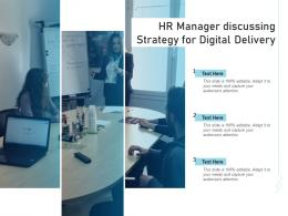HR Manager Discussing Strategy For Digital Delivery
