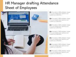 HR Manager Drafting Attendance Sheet Of Employees