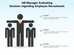 HR Manager Evaluating Decision Regarding Employee Recruitment