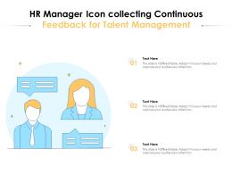 HR Manager Icon Collecting Continuous Feedback For Talent Management