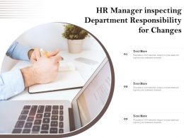 HR Manager Inspecting Department Responsibility For Changes