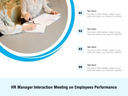 HR Manager Interaction Meeting On Employees Performance