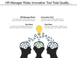 Hr Manager Roles Innovative Tool Total Quality Management Cpb