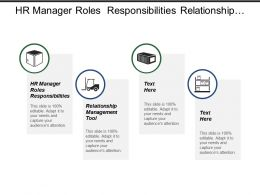 Hr Manager Roles Responsibilities Relationship Management Tool Marketing